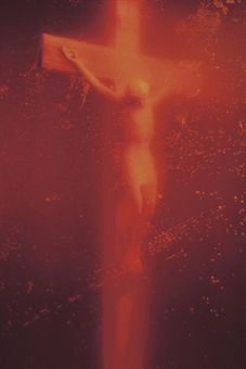 Andres Serrano (b. 1950)  Piss Christ  Cibachrome print face-mounted on Plexiglas  40 x 30 in. (101.6 x 76 cm.)  Executed in 1987. This work is number four from an edition of ten.