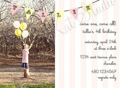 our pink + yellow vintage circus party invitation