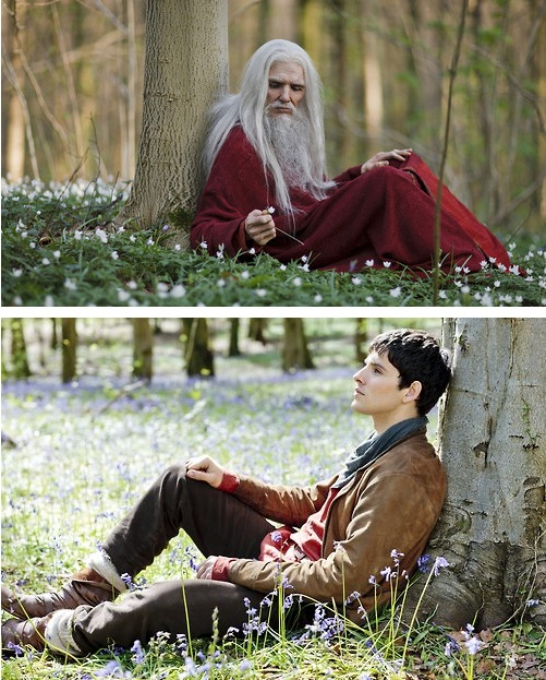 'Old' and young Merlin #BBCMerlin