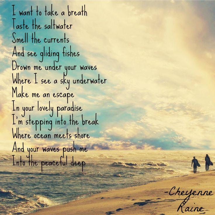 ocean love sky sunrise beach  deep poetry clouds poem