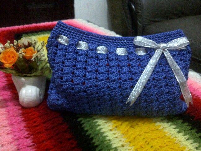 25x16x3cm, crochet small bag with nylon yarn
