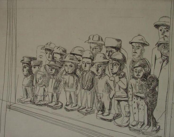 Claudette Schreuders, 'Untitled (Colon Crowd), 2001, Drypoint.