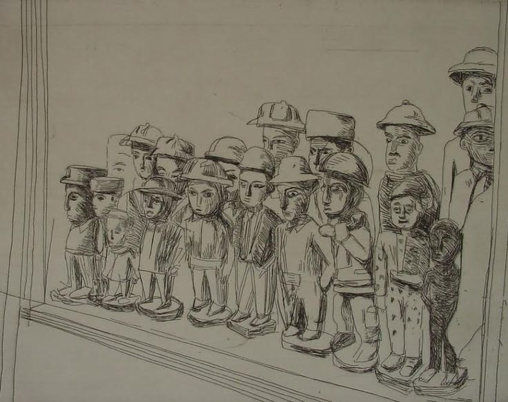 Claudette Schreuders, 'Untitled (Colon Crowd), 2001, Drypoint.