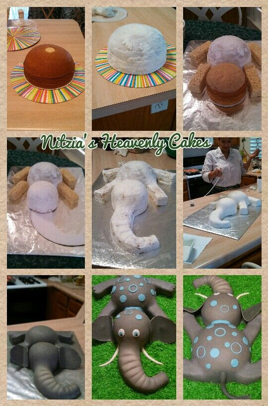 Elephant cake tutorial