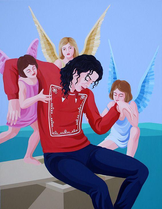 THE ANGEL OF MICHAEL JACKSON by Giuseppe Veneziano