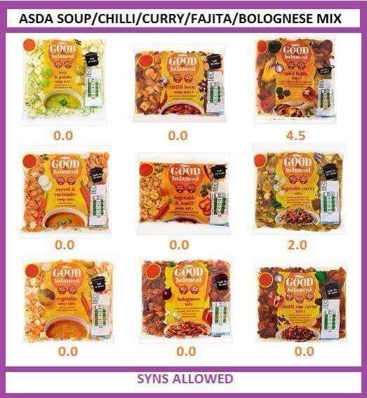 Asda Good And Counted Asda Syn Values Pinterest