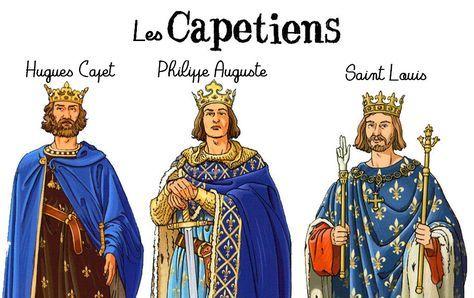 """Voici une séquence sur l'avènement des Capétiens (en l'occurrence Hugues Capet, Philippe Auguste et Louis IX dit """"Saint Louis"""") prévue pour une classe de CM1."""