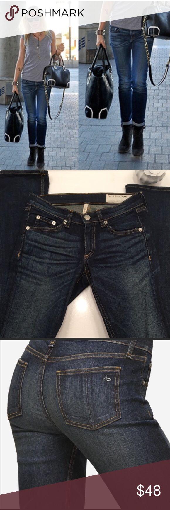 "Rag & Bone Cigarette Jean Cigarette style jean from Rag & Bone. Size 24. 7.5"" rise and 34"" inseam. Great condition. Skinny through leg. Cute to cuff or leave down. rag & bone Jeans Straight Leg"