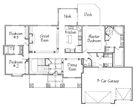 29 best house plans images on pinterest floor plans for Ranch house plans with jack and jill bathroom
