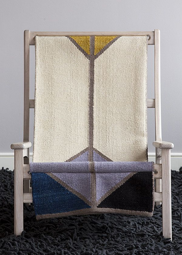 I spotted this chair by Michael Yates at Wanted Design. It features a whitewashed oak frame and a rug-like sling by Alyson Fox (price upon request).  Source: Michael Yates