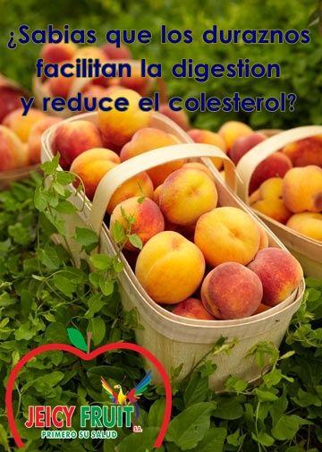 El durazno es una fruta asociada a la vida sana, posee muchas cualidades beneficiosas para la salud. Son ricos en vitamina C y un montón de otras novedades como la vitamina B9, B2,B1 y E, además facilita la digestión por estimular la secreción gástrica.