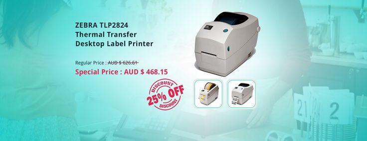 "Buy ZEBRA TLP2824+ 2"" TT Desktop label printers - 282P-101140-000 on cheap Price at QuickPOS  http://www.quickpos.com.au/"
