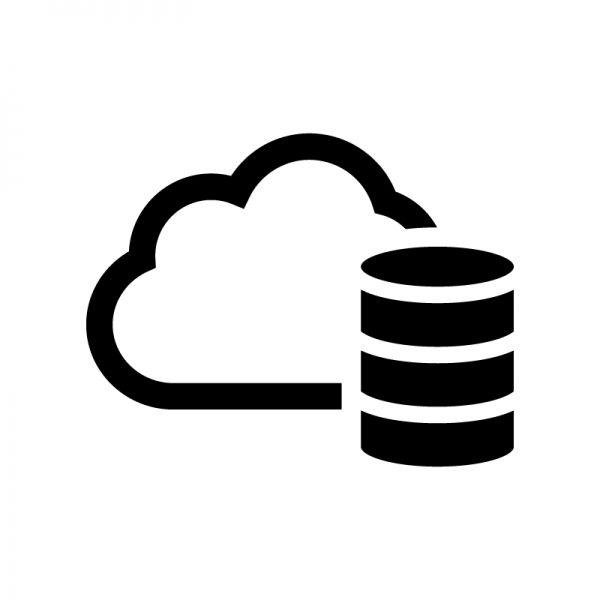 クラウドデータベース Pc パソコン スマホ データ バックアップ クラウド シルエット イラスト 地図 アイコン
