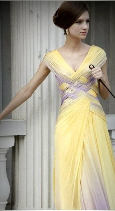 Pastel Yellow...Love this dress!
