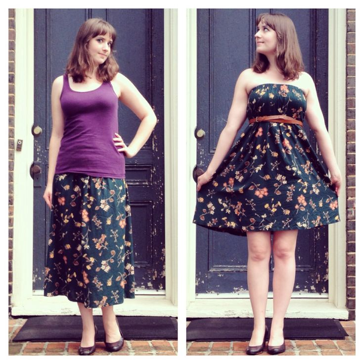 Thrift store up-cycle project. DIY refashion with no sewing required!