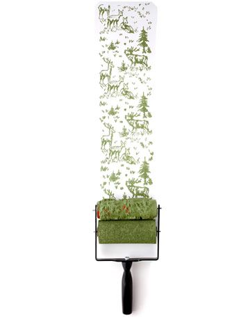 Rollerwall.com paint roller gives the look of wallpaper Decorative Paint Ideas and