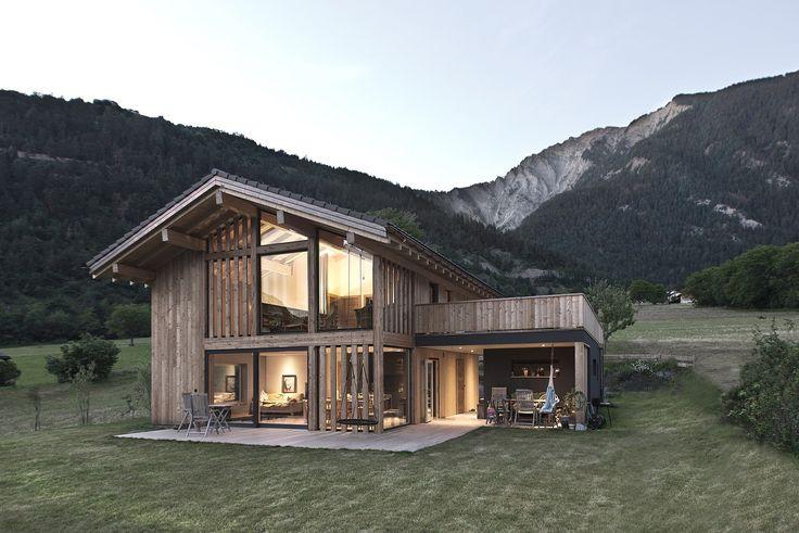 CRN House / Alp'Architecture sarl – nowoczesna STODOŁA | wnętrza & DESIGN | projekty DOMÓW | dom STODOŁA