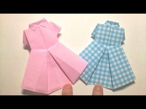 Origami - Blouse & Dress / 종이접기 - 블라우스와 원피스 - YouTube