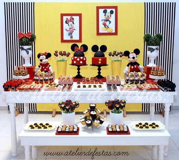 Festa Mickey e Minnie para irmãos: 30 ideias para inspirar! Mickey and Minnie Brother and Sister Birthday Party: 30 ideas to inspire!