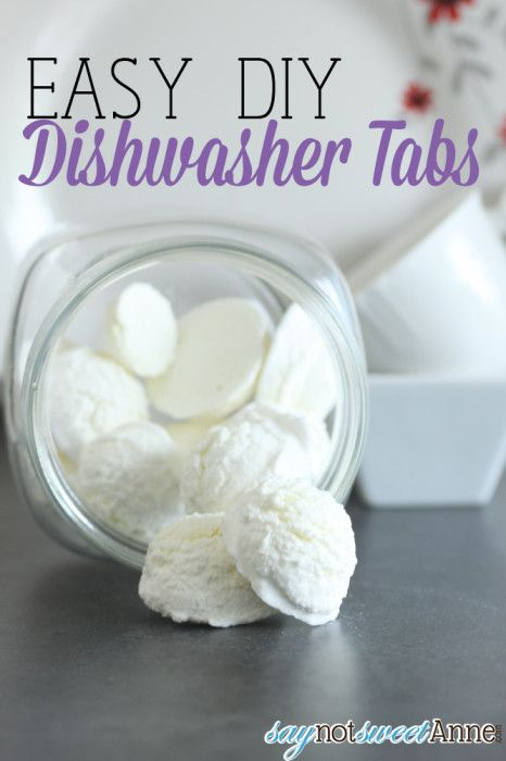 Easy DIY Dishwasher Soap by Say Not Sweet Anne