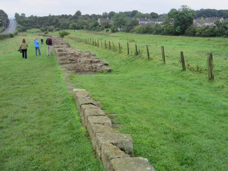 Remains of Hadrian's wall, stones used for houses and barns.
