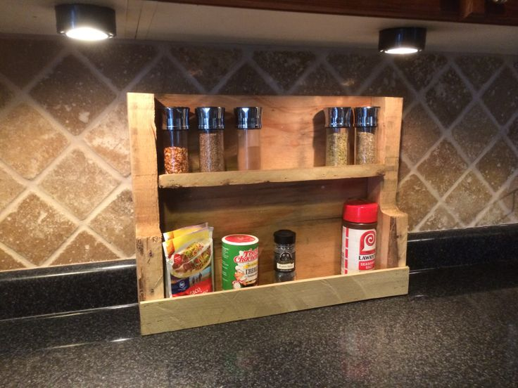 37 best ideas about spice rack on pinterest pallet wood for How to make a spice rack out of pallets