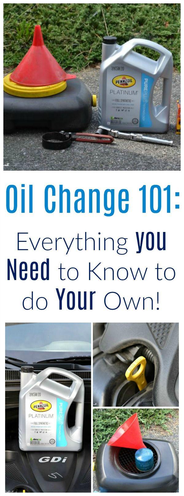 Diy Oil Change Musts Oil Change Diy Oils Oils