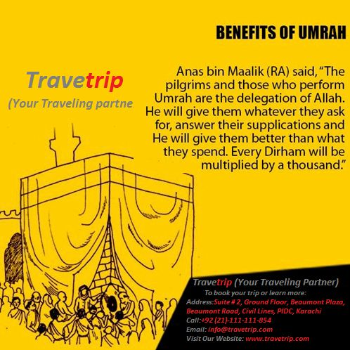 If you Are Planning To #Perform Umrah.There Are Such Travelling Tips That Are Very Useful While Performing #UMRAH.. May Allah give us all an opportunity to perform #Umrah! Plan Your Umrah With Travetrip At A Competitive Price .We Got The Best Packages For You..... To book your trip or learn more:  Address:Suite # 2, Ground Floor, Beaumont Plaza, Beaumont Road, Civil Lines, PIDC, Karachi Call:+92 (21)-111-111-854 Email: info@travetrip.com Visit Our Website: www.travetrip.com