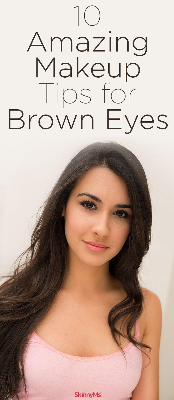 10 Amazing Makeup Tips to make your brown eyes look incredible. #browneyes #makeup #beauty