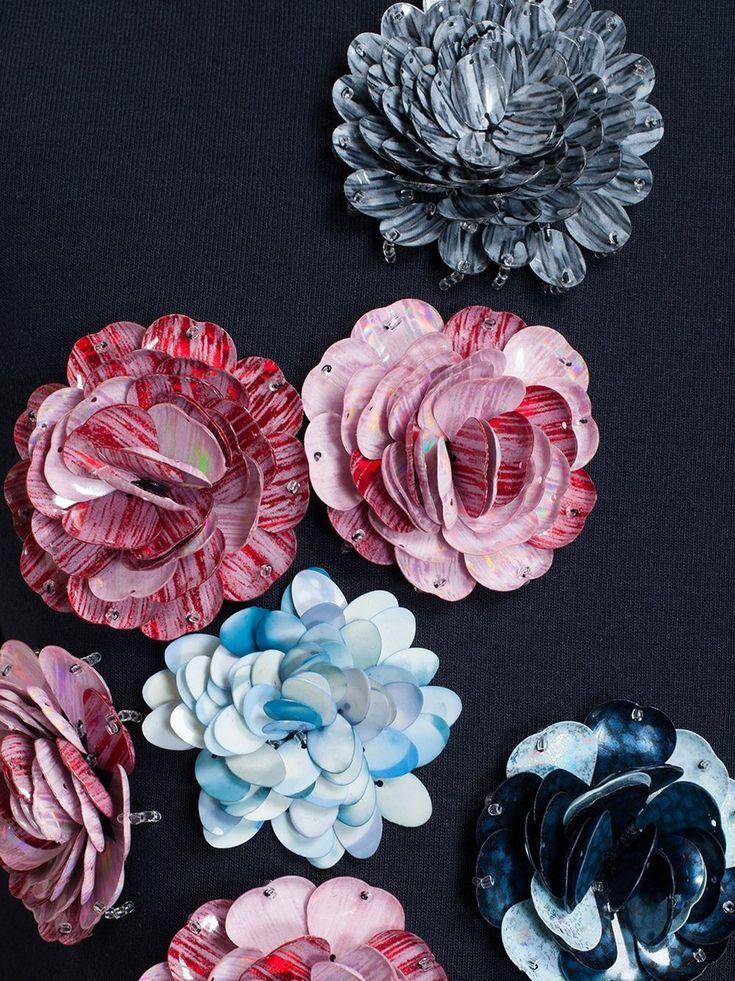 Msgm Floral Embellished Sleeveless Sweatshirt - Browns - Farfetch.com