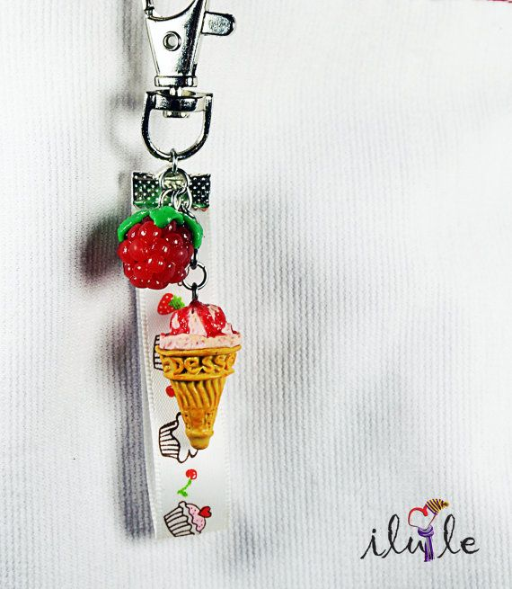 Keychain sweets, sweets Suspension, Sweet decorations, ice cream keychain valentines day