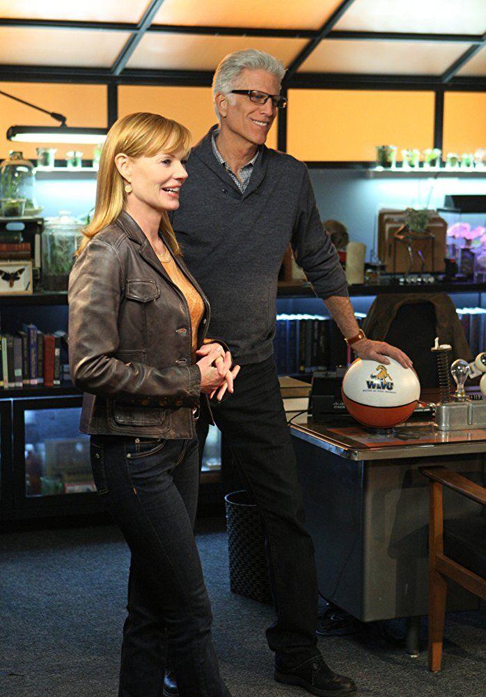 Ted Danson and Marg Helgenberger in CSI: Crime Scene Investigation (2000)