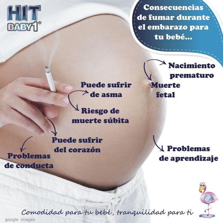 #Consecuencias de #fumar durante el #embarazo para el #bebé. * Un nacimiento prematuro. * Muerte fetal. * El peso de tu bebé puede ser muy bajo. * Son propensos a sufrir de asma. * Corren riesgo de muerte súbita. * Problemas de conducta, aprendizaje, bajo coeficiente intelectual.