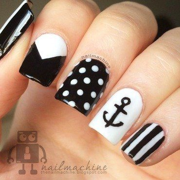 The 25 best nails with anchor design ideas on pinterest black and white nails with anchor google search prinsesfo Gallery