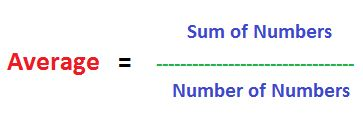 SHORT-CUT TO FIND AVERAGE OF NUMBERS IN ARITHMETIC SEQUENCE Average is sum of observations (numbers) divided by number of observations.  Average is also called Arithmetic Mean or simply Mean.  Average for numbers in arithmetic sequence is the average of the smallest and the largest numbers in the sequence.
