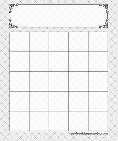 5x5 bingo templates cards | camp activities | Bingo ...