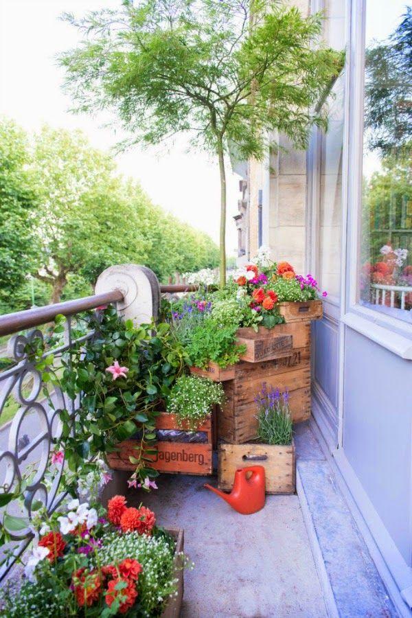 Ideas para utilizar viejas cajas de madera como - Ideas para jardineria ...