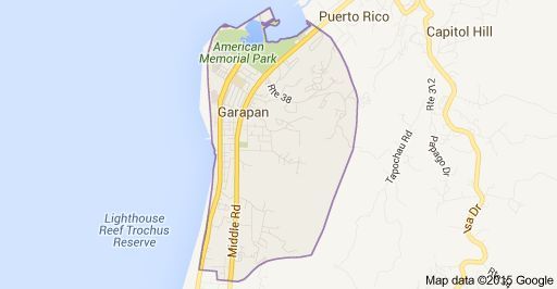 Map of Garapan, Saipan, CNMI