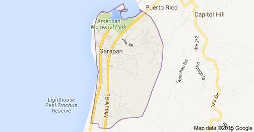 Map of Garapan, Saipan, CNMI