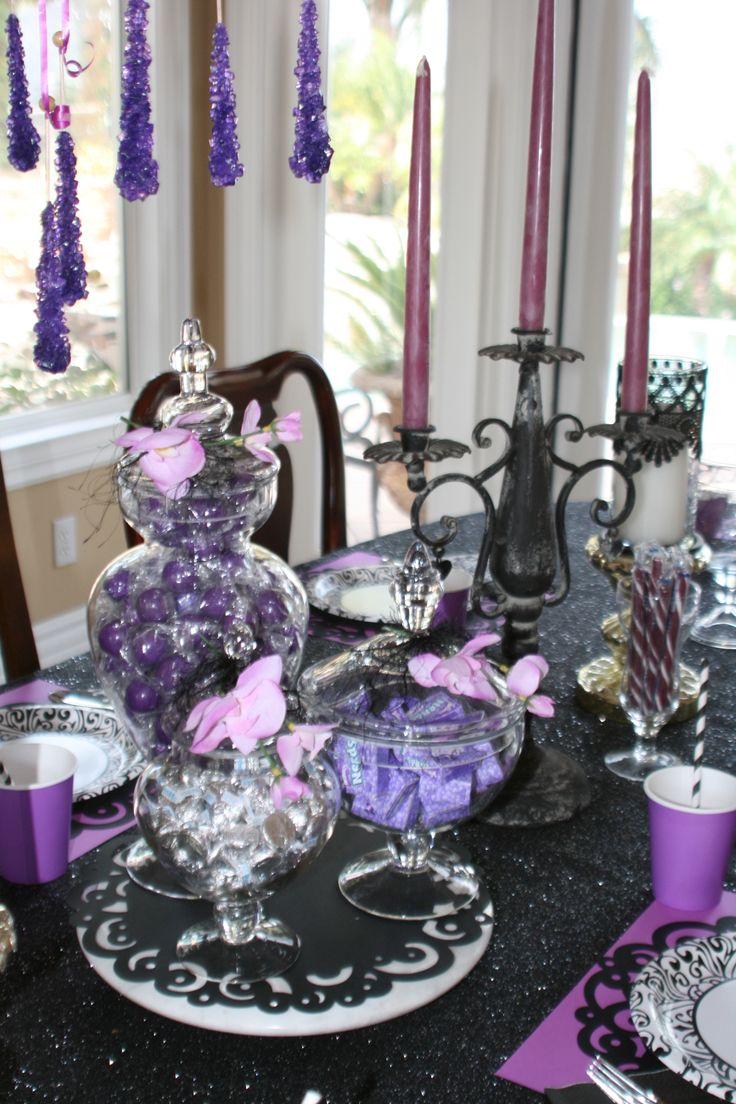 Maleficent Party - Maleficent's Magical treats...from Love's 1st 'Kiss', Briar Rose's Berries, Fairy Dust to Enchanted Forest Stalactite Rocks #Maleficent