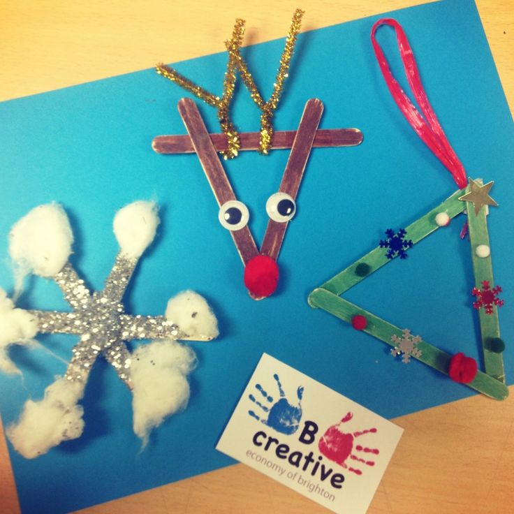 Lollysticks can make great #xmas decorations #reindeer #snowflake