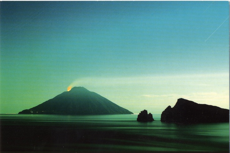 Stromboli active volcano - it's hard to believe that people actually live on it!!