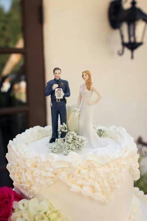 Cop Wedding Cake