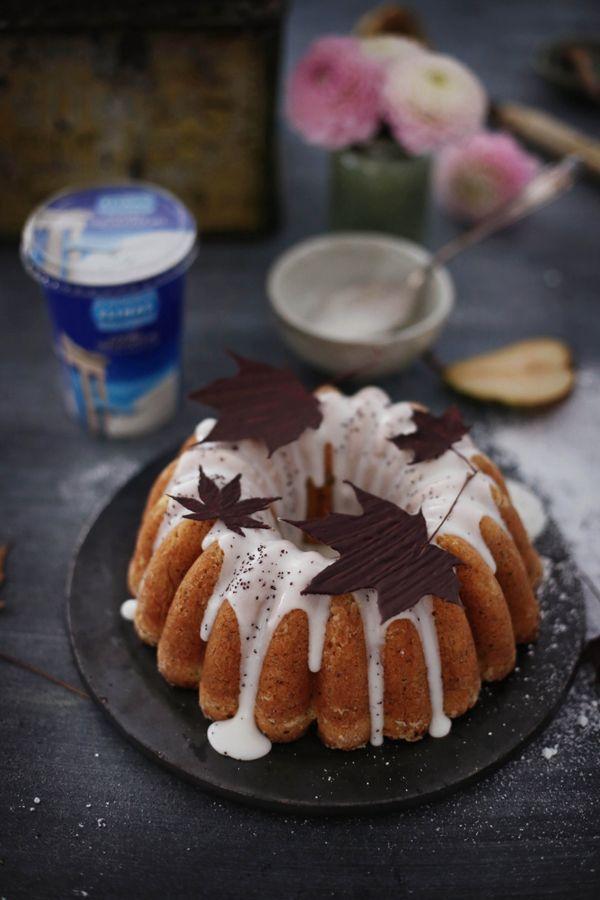 Birnen-Mohnkuchen mit Joghurt nach griechischer Art | Fräulein Klein | Bloglovin'