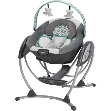Baby Swing Glider Rocker Recline 3 Positions Infant Portable Speeds Vibrate New | eBay
