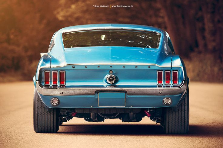 1967 Ford Mustang Fastback Rear by AmericanMuscle on DeviantArt