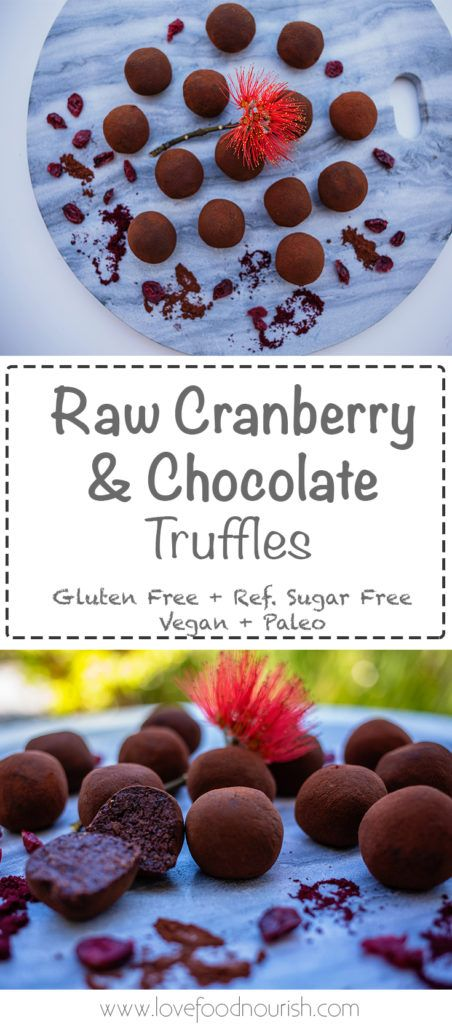 Decadent, rich & chocolatey - Yum these raw vegan cranberry & chocolate truffles can be whipped up in 15 minutes. Gluten free, refined sugar free, vegan, dairy free & paleo.