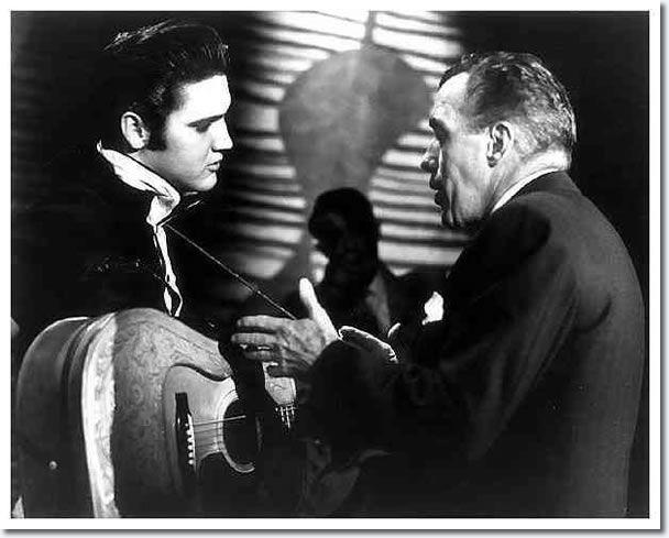 Elvis Presley and Ed Sullivan : Rehearsals : The Ed Sullivan Show : New York, October, 26 1956.