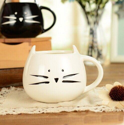Barato Gato Lindo projeto do Copo de Café quente, Caneca de chá em cerâmica xícara de leite caneca, Compro Qualidade Canecas diretamente de fornecedores da China: Gato Lindo projeto do Copo de Café quente, Caneca de chá em cerâmica xícara de leite caneca