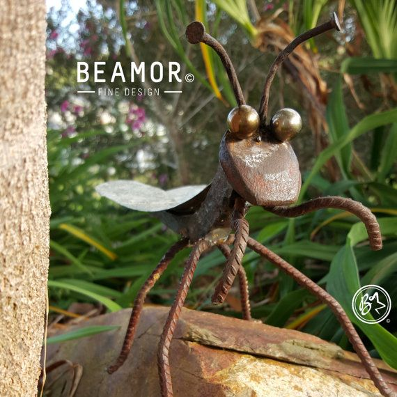 Praying Mantis rail spike figure by BeamorFineDesign on Etsy